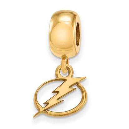 Picture of Tampa Bay Lightning® Sterling Silver Gold Plated Extra Small Dangle Bead Charm
