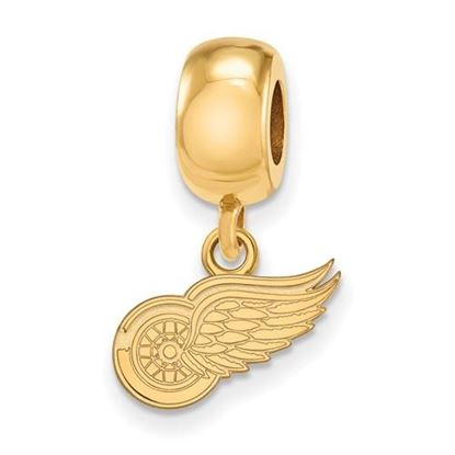 Picture of Detroit Red Wings® Sterling Silver Gold Plated Extra Small Dangle Bead Charm