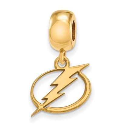 Picture of Tampa Bay Lightning® Sterling Silver Gold Plated Small Dangle Bead