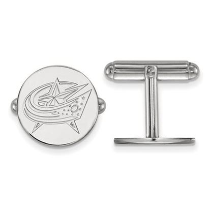 Picture of Columbus Blue Jackets® Sterling Silver Gold Plated Cuff Links