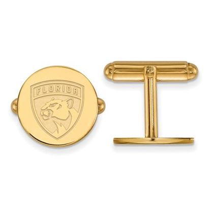 Picture of Florida Panthers® Sterling Silver Gold Plated Cuff Links