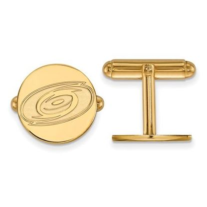 Picture of Carolina Hurricanes® Sterling Silver Gold Plated Cuff Links
