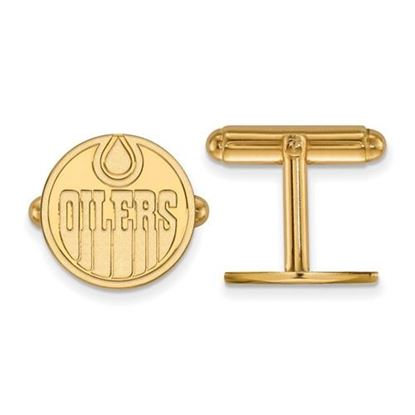 Picture of Edmonton Oilers® Sterling Silver Gold Plated Cuff Links
