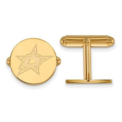 Picture of Dallas Stars™ Sterling Silver Gold Plated Cuff Links