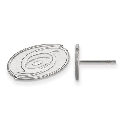 Picture of Carolina Hurricanes® 10k White Gold Extra Small Post Earrings