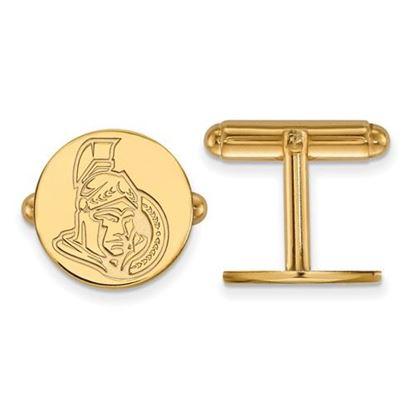 Picture of Ottawa Senators® Sterling Silver Gold Plated Cuff Links