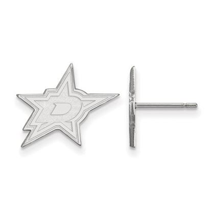 Picture of Dallas Stars™ 10k White Gold Small Post Earrings