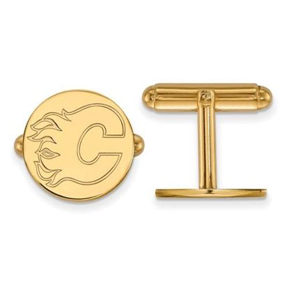 Picture of Calgary Flames® Sterling Silver Gold Plated Cuff Links