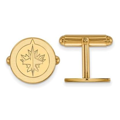 Picture of Winnipeg Jets™ Sterling Silver Gold Plated Cuff Links
