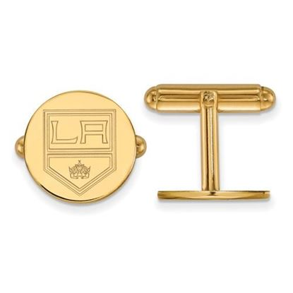 Picture of Los Angeles Kings® Sterling Silver Gold Plated Cuff Links
