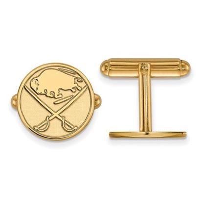 Picture of Buffalo Sabres® Sterling Silver Gold Plated Cuff Links