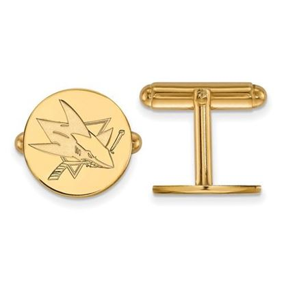 Picture of San Jose Sharks® Sterling Silver Gold Plated Cuff Links