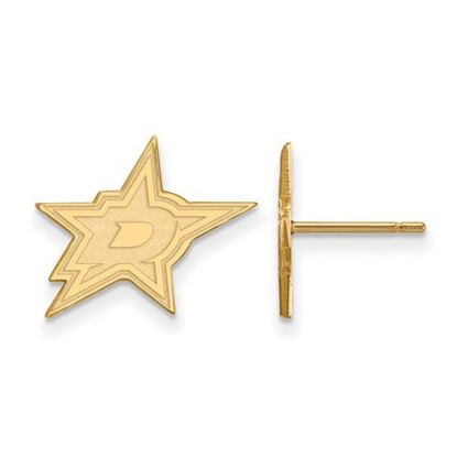 Picture of Dallas Stars™ 10k Yellow Gold Small Post Earrings