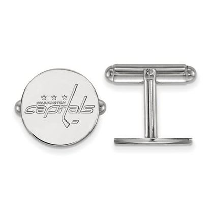 Picture of Washington Capitals® Sterling Silver Gold Plated Cuff Links