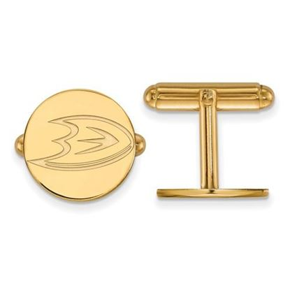 Picture of Anaheim Ducks® Sterling Silver Gold Plated Cuff Links