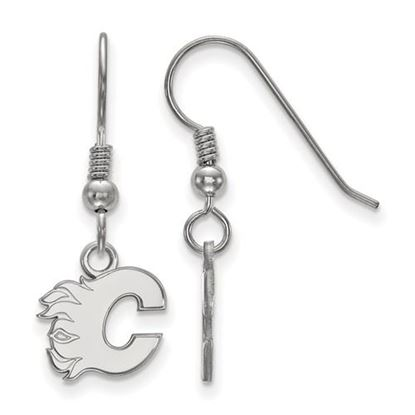 Picture of Calgary Flames® Sterling Silver Gold Plated Extra Small Dangle Earrings