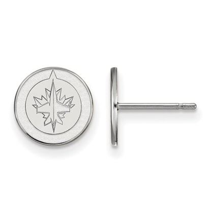 Picture of Winnipeg Jets™ 10k White Gold Extra Small Post Earrings