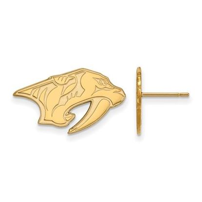 Picture of Nashville Predators® 14k Yellow Gold Small Post Earrings
