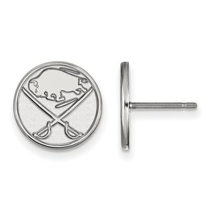 Picture of Buffalo Sabres® 10k White Gold Small Post Earrings