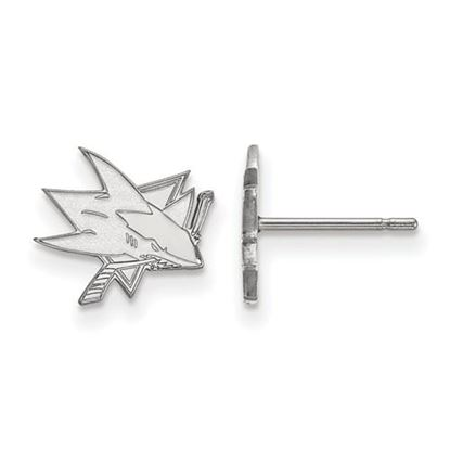 Picture of San Jose Sharks® 10k White Gold Extra Small Post Earrings