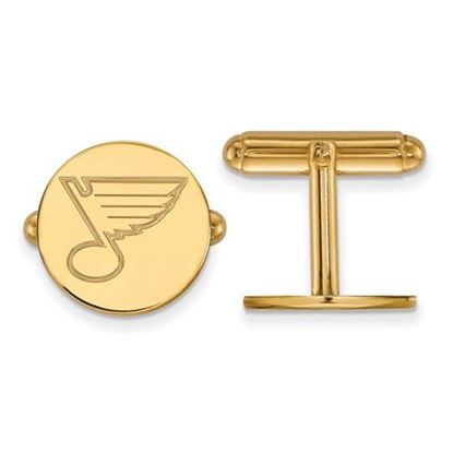 Picture of St. Louis Blues® Sterling Silver Gold Plated Cuff Links