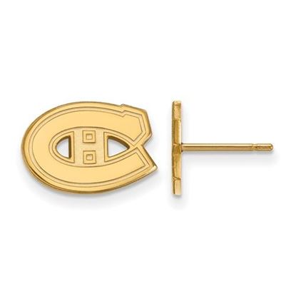 Picture of Montreal Canadiens® 10k Yellow Gold Extra Small Post Earrings