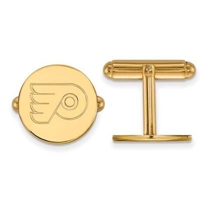 Picture of Philadelphia Flyers® Sterling Silver Gold Plated Cuff Links