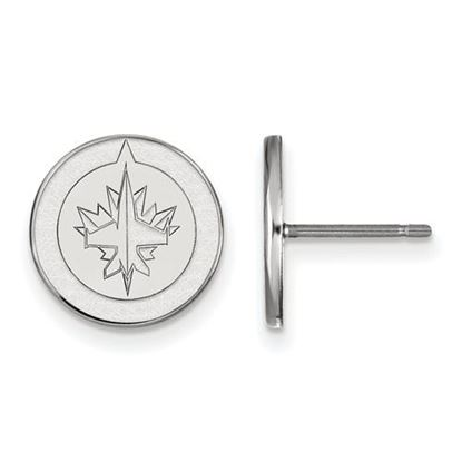 Picture of Winnipeg Jets™ 10k White Gold Small Post Earrings