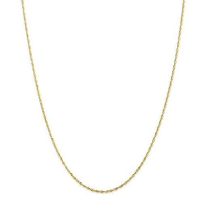 10k Yellow Gold 1.5mm Diamond Cut Extra-Lite Rope Chain Necklace