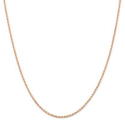 14k Rose Gold 1.50mm Diamond Cut Rope Chain Necklace