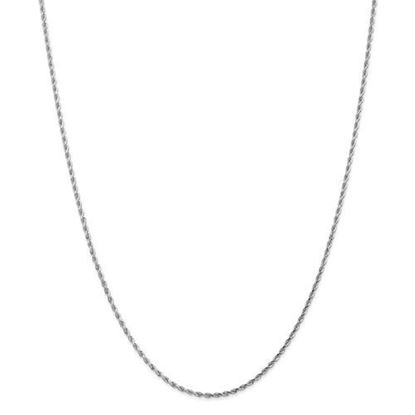 14k White Gold 1.75mm Diamond Cut Rope Chain Necklace