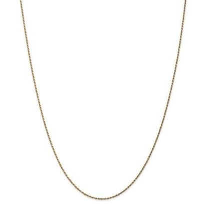 14k Yellow Gold 1.15mm Machine-made Rope Chain Necklace