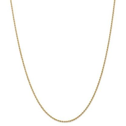 14k Yellow Gold 1.50mm Regular Rope Chain Necklace