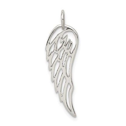Sterling Silver Polished Angel Wing Charm