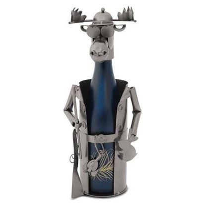Hunting Moose Metal Wine Caddy