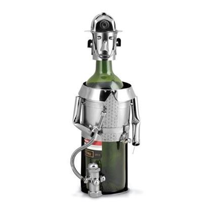 Fireman Metal Wine Caddy
