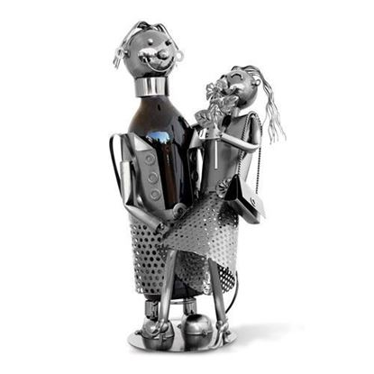 Happy Couple Metal Wine Caddy