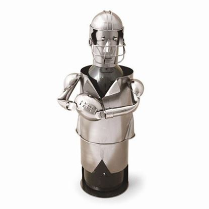 Football Player Metal Wine Caddy