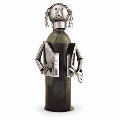 Barber Hairdresser Metal Wine Caddy