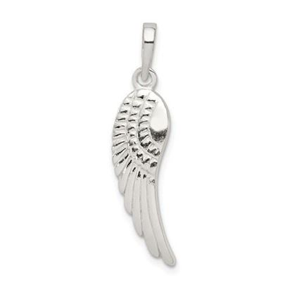 Picture of Sterling Silver Polished and Textured Angel Wing Pendant