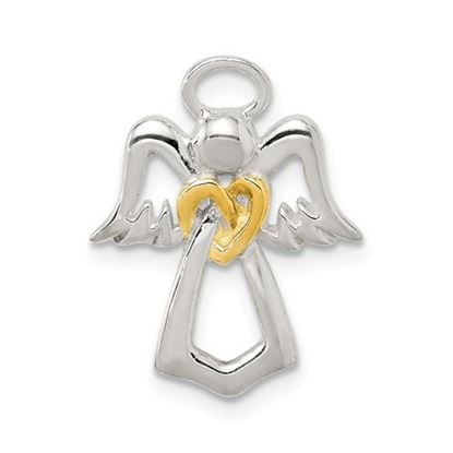 Picture of Sterling Silver and Gold tone Angel Chain Slide