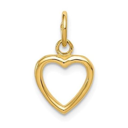 14K Yellow Gold Cut-out Heart Pendant