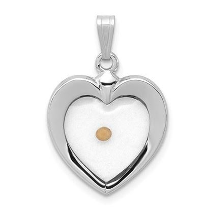 Sterling Silver Heart with Mustard Seed Pendant